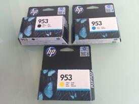 3 X ORIGINAL HP PRINTER INKS