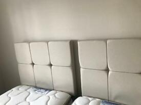 Sealy headboard for 3ft single bed x 2