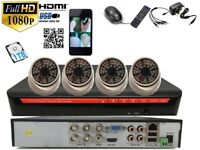4 full HD 2.4 M pixel Outdoor Cameras 4Ch AHD1080 CCTV with 1 TB HDD System Plug &Play P2Psystem