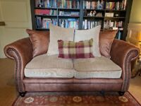 Sold - 2 Seater leather sofa - Gable sofology