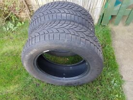 Pair of winter tyres 16inch (used but plenty miles left)