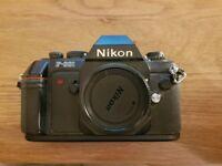 Nikon F301 + nikon af nikkor 35-70mm f/3.3-4.5 lens + strap