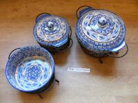 3x Temp-tations Ovenware serving bowls (Tara, CSA Inc)