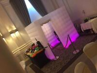 LED inflatable photobooth hire Photo booth Edinburgh