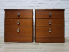 Pair Of Stag Three Drawer Bedside Cabinets (DELIVERY AVAILABLE)