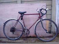 Vintage Racer bike with chrome forks