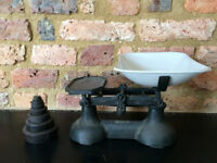 Vintage Kitchen Scale with Weights