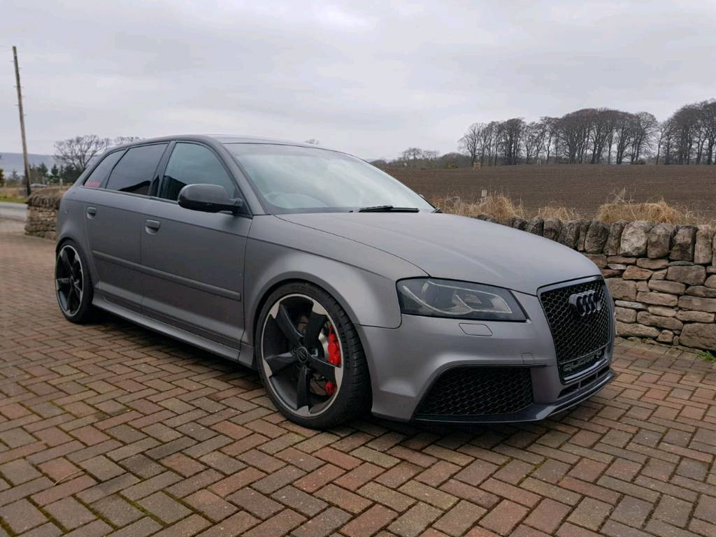 2011 61 audi rs3 2 5t 430bhp wrapped in grey in castle. Black Bedroom Furniture Sets. Home Design Ideas