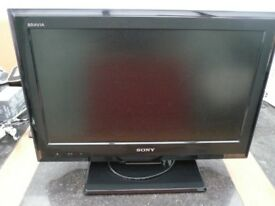 22 inch Sony Bravia LCD Digital TV ,Remote & Instuctions