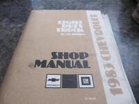 Books - Assorted truck and shop manuals