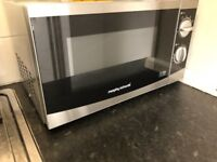 Silver Morphy Richards Microwave Oven