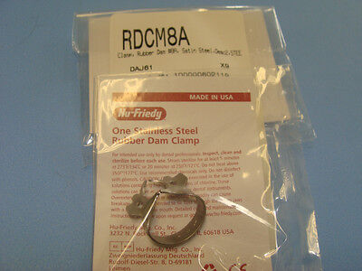 Dental Rubber Dam Clamp No 08a Rdcm8a Hu Friedy Original Special Price