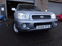 04 HYUNDAI SANTA FE 2.7 4X4,AUTOMATIC,MOT FEB 018,2 OWNERS FROM NEW,2 KEYS,VERY RELIABLE 4X4 JEEP