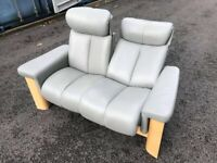 Ekornes Stressless Two Seater Grey High Back Sofa Possible Delivery
