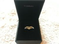 *Size O* White Gold Diamond Ring engagement ring/eternity ring