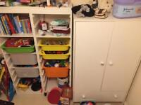 Kids single bed and wardrobe for sale