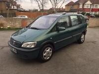 Vauxhall zafira design 2002 7 seater 1.8 petrol manual