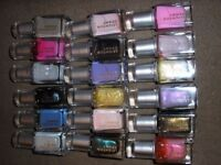Leighton Denny nail colours mixture of new and used.