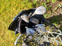Set of lightweight golf clubs with bag