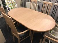 Side unit and dining table and chairs