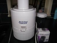 JACK LALANNE POWER JUICER WITH STEP DOWN VOLTAGE CONVERTOR