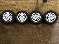 Genuine Volkswagen 5X112 Steel wheels with Wheel trims
