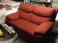 Fabric sofas - 2 seater and 3 seaters. Good condition
