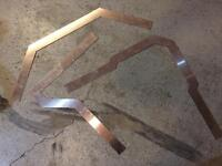 Laser cut custom squares for pipe fitting and welding