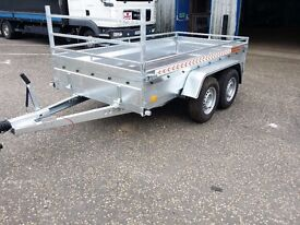 New car trailer twin axle with brakes 10 x 5 2700 kg