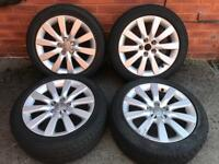 """Audi a1 alloy wheels and tyres 16"""" sport polo fabia"""