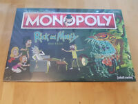 Monopoly, Rick and Morty Edition; New, Unopened