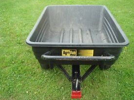 Garden trailer or hand cart AGRI FAB can be towed or pushed/pulled has great capacity and tips