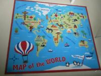 Childrens Rug - Map of the World