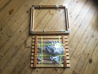 Wooden utensil frame for hanging from kitchen ceiling. Never used and intact.