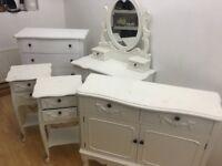 Beautiful white shabby chic furniture