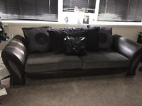 Dfs 3 seater sofa & round sofa built in music