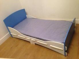 Child's bed with bedding