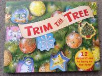 Trim the Tree 12 mini books Novelty Christmas Tree Decorations
