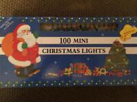 100 mini Christmas lights