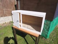 Bird room equipment. Breeding box suitable for smaller birds such as Finches or Canaries 32x17x12