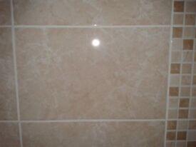 Brand New Cappuccino Marbel Effect Bathroom Wall Tile high gloss (£20/Sqm)