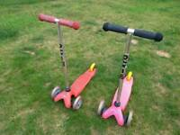 Genuine Mini micro scooters - £15 each, £25 pair