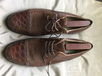 Men's crocodile skin shoes