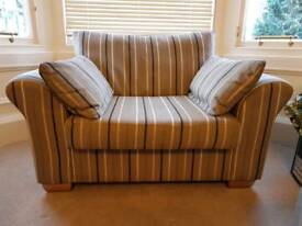 Snuggle Chair / love seat / armchair with footstool from Next