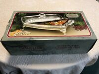 2x Silver Plated Serving Dishes with lids