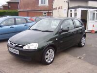 2002 VAUXHALL CORSA GLS IDEAL FIRST CAR 12 MONTHS MOT SXI ALLOYS £695