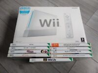 Nintendo Wii Boxed Complete x2 Wii Remotes x1 Nunchuck x9 Games