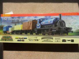 Hornby -Blue Highlander Train Set (Unopened)