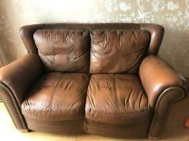 Leather Sofa/ Setee Brown