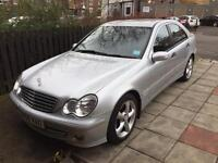 56 REG C CLASS MERCEDES SPORT, FULL LEATHER HEATED SEATS